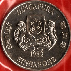 10 dollars 1982 - Year of Dog, Singapore - Coin value ...