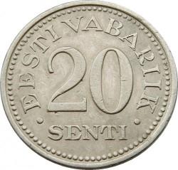 Νόμισμα > 20Σεντί, 1935 - Εσθονία  - reverse