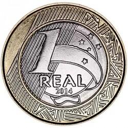 Moneta > 1real, 2014 - Brasile  (XXXI Giochi olimpici estivi, Rio de Janeiro 2016 - Golf) - reverse