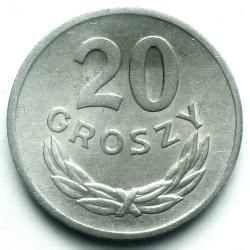 Coin > 20groszy, 1957-1985 - Poland  - reverse