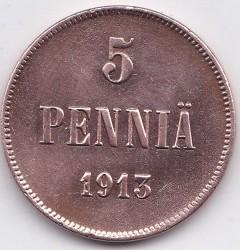 Moneta > 5penniä, 1896-1917 - Finlandia  - reverse