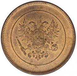 Mynt > 5penniä, 1917 - Finland  (Eagle on reverse) - reverse