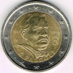 Moneta > 2euro, 2012 - Italia  (100° Anniversario - Morte di Giovanni Pascoli) - obverse