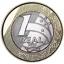 Moneta > 1real, 2015 - Brasile  (XXXI Giochi olimpici estivi, Rio de Janeiro 2016 - Pallacanestro ) - obverse