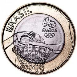 Moneta > 1real, 2015 - Brasile  (XXXI Giochi olimpici estivi, Rio de Janeiro 2016 - Pallacanestro ) - reverse