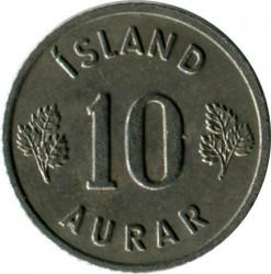 Mynt > 10aurar, 1958 - Island  - reverse