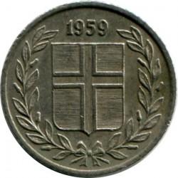 Mynt > 10aurar, 1959 - Island  - obverse