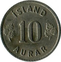 Mynt > 10aurar, 1959 - Island  - reverse