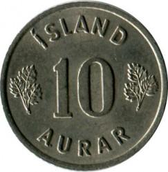 Mynt > 10aurar, 1965 - Island  - obverse