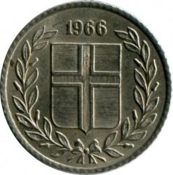 Mynt > 10aurar, 1966 - Island  - obverse
