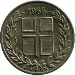 Монета > 25ейре, 1966 - Ісландія  - obverse