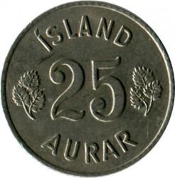 Монета > 25ейре, 1966 - Ісландія  - reverse