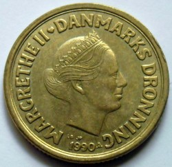 Moneda > 20kroner, 1990-1993 - Dinamarca  - obverse