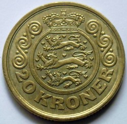 Moneda > 20kroner, 1990-1993 - Dinamarca  - reverse