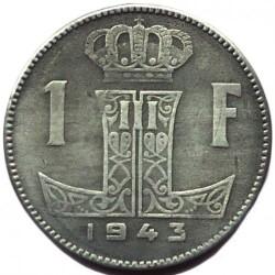 Minca > 1frank, 1941-1947 - Belgicko  (Legend - 'BELGIQUE - BELGIE') - reverse