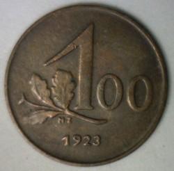 Moneda > 100kroner, 1923-1924 - Àustria  - reverse