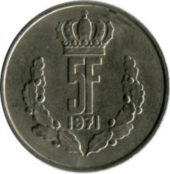 Монета > 5франков, 1971-1981 - Люксембург  - reverse