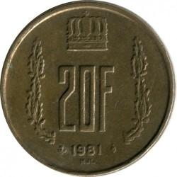 Кованица > 20франака, 1980-1983 - Луксембург  - obverse