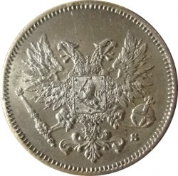 Moneta > 25 penniä, 1917 - Finlandia  (Eagle w/o crown) - obverse