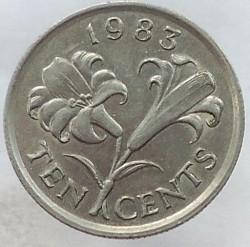 Minca > 10cents, 1983 - Bermudy  - reverse