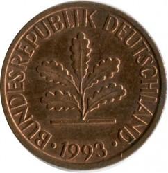 Münze > 1Pfennig, 1993 - Deutschland  - obverse