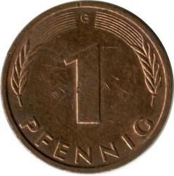 Münze > 1Pfennig, 1993 - Deutschland  - reverse