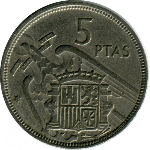 5 Peseten 1957 Spanien Münzen Wert Ucoinnet