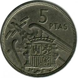 Coin > 5pesetas, 1957 - Spain  - obverse