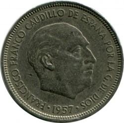 Coin > 5pesetas, 1957 - Spain  - reverse