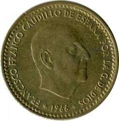 Монета > 1песета, 1966 - Испания  - obverse