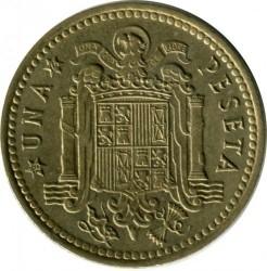 Монета > 1песета, 1966 - Испания  - reverse