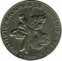 Moneta > 25centavos, 1981 - Kuba  (INTUR: Denomination w/o number 25) - obverse