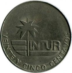 Moneta > 25centavos, 1981 - Kuba  (INTUR: Denomination w/o number 25) - reverse
