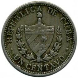 Coin > 1centavo, 1915-1938 - Cuba  - obverse