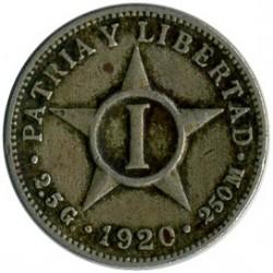 Coin > 1centavo, 1915-1938 - Cuba  - reverse