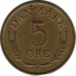 Münze > 5Öre, 1960-1972 - Dänemark   - obverse