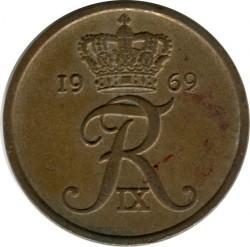 Münze > 5Öre, 1960-1972 - Dänemark   - reverse