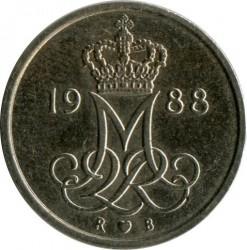Moneda > 10ore, 1988 - Dinamarca  - reverse