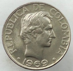 Coin > 20 centavos, 1967-1969 - Colombia  - obverse