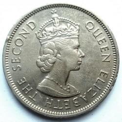 Coin > 1dollar, 1960 - Hong Kong  - obverse