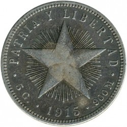 מטבע > 20סנטאבו, 1915-1949 - קובה  - obverse