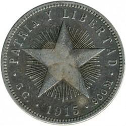 Coin > 20centavos, 1915-1949 - Cuba  - reverse