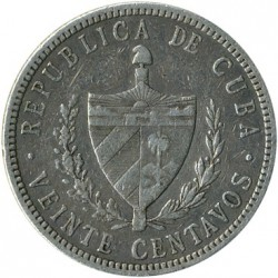 מטבע > 20סנטאבו, 1915-1949 - קובה  - reverse