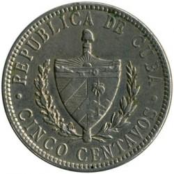 Coin > 5centavos, 1915-1920 - Cuba  - obverse