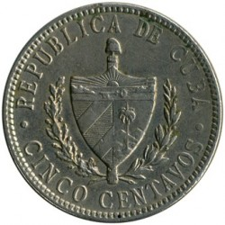Coin > 5centavos, 1915-1920 - Cuba  - reverse
