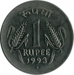 Монета > 1рупия, 1992-1994 - Индия  - obverse