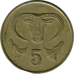 Pièce > 5cents, 1983 - Chypre  - reverse
