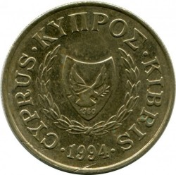 Moneda > 10cents, 1991-2004 - Xipre  - reverse