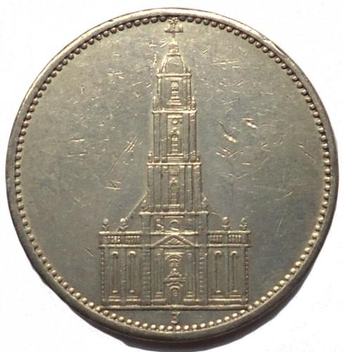 5 Reichsmark 1934 1935 Garnisonkirche Potsdam Deutschland