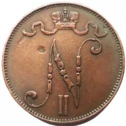 Moneda > 5penniä, 1896-1917 - Finlandia  - obverse